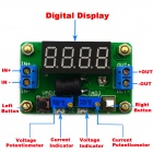 Jtron DC 4.5 ~ 24V à DC 0.9 ~ 20V Tension constante / courant Buck w / 4-LED Blue LED Display - Vert