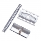 Zinc Alloy Men's Manual Razor Shaver - Silver