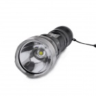 GODFIRE KH-T60 LED 5-Mode 700LM Attack Head White Flashlight w/ Strap - Black (1 x 18650)
