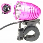 ZHISHUNJIA 1 x Cree XM-L2 T6 1000lm 4-Mode White Bicycle Headlight - Deep Pink + Black (4 x 18650)