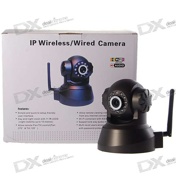 IP Wireless WIFI/LAN Camera with Night Vision and Pan/Tilt Motors