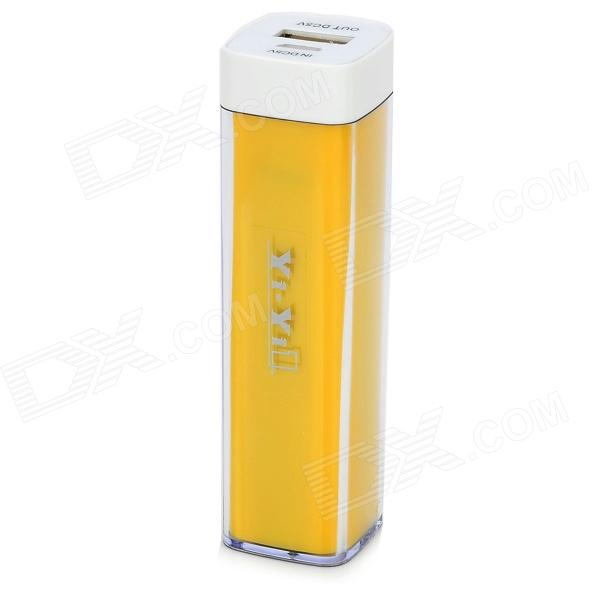 YI-YI 5V 3300mAh Li-ion Battery Power Bank w/ Cable for Sony L39h / Xperia Z1 + More - Yellow