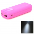 ''5600mAh'' External Power Bank + USB Charging/Data Cable for Samsung Mobile Phones - Deep Pink
