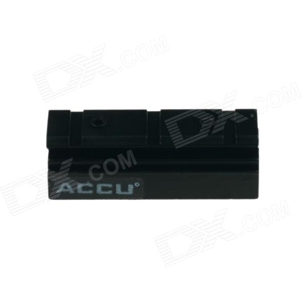 ACCU 11 mm na 20mm Gun Rail DOVETAIL Adapter - Black
