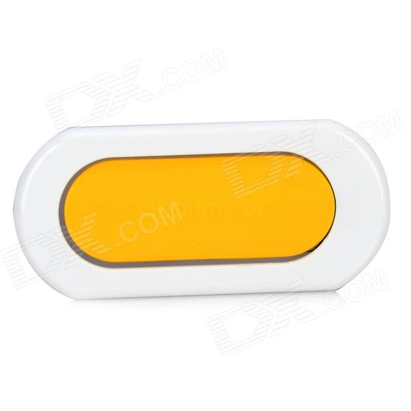 Mini Foldable Holder w/ 3M Adhesive Tape for Smartphone - Yellow + White