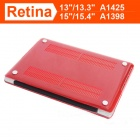 "ENKAY Crystal Hard Protective Case for MacBook Pro 15.4"" with Retina Display - Translucent Red"