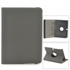 Protective 360 Degree Rotation PU Leather Case for Samsung Note 10.1 2014 Edition P601 / P600 - Grey