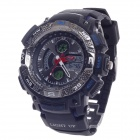 OHSEN AD1310 Men's Sport Analog + Digital Quartz Wrist Watch - Black + Deep Blue (1 x CR-2025)