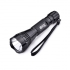 GODFIRE SH-8W CREE XR-E Q5 2-Mode 150lm White Flashlight w/ Strap - Black (1 x 18650)