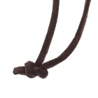 Animal + Flowers Zinc alloy PU Leather Necklace - Bronze