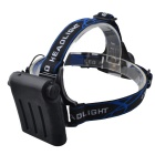 RichFire SF-535 800LM 3-Mode White Zoomable Focus LED Flashlight Headlamp - Black + Silver