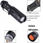 RichFire SF-118B 800LM 3-Mode Zoomable point LED Mini Torch - noir (1 x 18650)