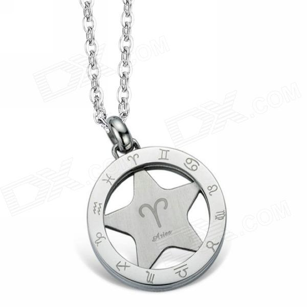 EQute PSSC58 316L Stainless Steel Constellation Pendant Necklace 20 - Aries - DXNecklaces<br>Color Silver Brand eQute Model PSSC58 Quantity 1 Piece Gender Men Suitable for Adults Chain Material 316L Stainless steel Pendant Material 316L Stainless steel Chain Length 50 cm Chain Width 2.4 cm Packing List 1 x Necklace<br>