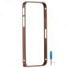 Zomgo Fashionable Metal Protective Bumper Frame for Iphone 5 / 5s - Brown