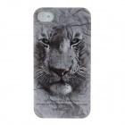 Animal Series Cute Tiger Style Phone Case Cover for Iphone 4 / 4s - Grey