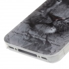 Animal Series style mignon Tiger Phone Case Cover pour iPhone 4 / 4S - Gris