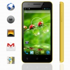 "KICCY MTK6582 Quad-Core Android 4.2 WCDMA Bar Phone w/ 4.5"" IPS, Wi-Fi, GPS, ROM 4GB - Yellow"