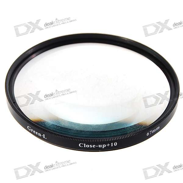 Premium 10X Macro-Effect Camera Lens Filter (67mm)Lenses<br>Form  ColorBlackLens Diameter67mmPacking List<br>