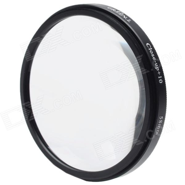 Premium 10X Macro-Effect Camera Lens Filter (58mm) - DXLenses<br>By attaching the Close-Up Filter user will be able to increase the magnifying power of the lens.Every camera has a limitation of the minimum distance for shooting the picture. That means you cannot go closer to the object more than the distance recommended by the manufacturer. With close up filters you can come closer to your object without actually coming closer to the object and you enjoy the closest possible image of your choice. It is very helpful when take pictures of small objects especially flowers and insects.<br>