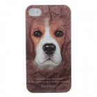 Animal Series Cute Dog Style Phone Case Cover for Iphone 4 / 4s - Brown+White