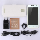 "Catee CT100 MTK6572 Dual-core Android 4.2 WCDMA Phone w/ 4.5"", 512MB RAM, 4GB ROM - White + Yellow"