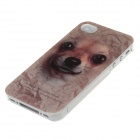 Animal Series style mignon chien Phone Case Cover pour iPhone 4 / 4S - Brown + Noir