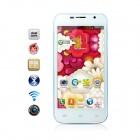 "Catee CT100 MTK6572 Dual-core Android 4.2 WCDMA Bar Phone w/4.5"", 512MB RAM, 4GB ROM - White + Blue"