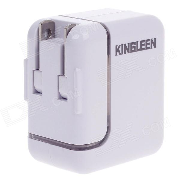 KINGLEEN USB AC Power Charger Adapter for Cellphone / Iphone / Ipad - White (US Plug) mxt ac power charger adapter w dual usb for iphone ipad ipod black us plug ac 100 240v