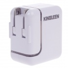 KINGLEEN USB AC Power Charger Adapter for Cellphone / Iphone / Ipad - White (US Plugs)
