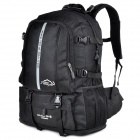 LKLL Outdoor Mountaineer Nylon Backpack - Black (35~50L)