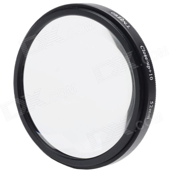 Premium 10X Macro-Effect Camera Lens Filter (52mm)Lenses<br>By attaching the Close-Up Filter, user will be able to increase the magnifying power of the lens.Every camera has a limitation of the minimum distance for shooting the picture. That means you cannot go closer to the object more than the distance recommended by the manufacturer. With close up filters you can come closer to your object without actually coming closer to the object and you enjoy the closest possible image of your choice. It is very helpful when take pictures of small objects especially flowers and insects.<br>