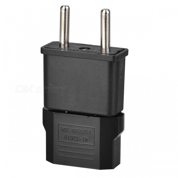 US Socket to EU Plug AC Power Adapter Plug + EU Socket to US Plug AC Power Adapter Plug (2 PCS)
