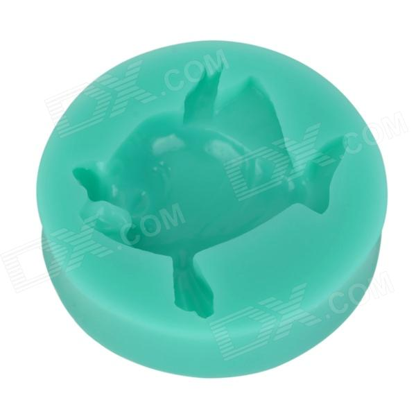 Fish Style Silicone Cake Mold - Turquoise sp008 diy silicone button flower style cookie cake mold pink