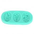 3-in-1 Christmas-Themed Fondant Silicone Mold - Green