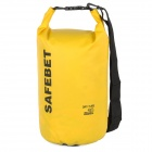 Outdoor Rafting Camping Waterproof Dry Bag - Black + Yellow (20L)