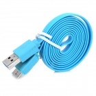 USB Male to Micro USB Male Flat Charging + Data Transmission Cable for Samsung Note 3 N9000 (100cm)