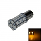 1157 / BAY15D 6W 300lm 27 x SMD 5050 LED Yellow Car Backup Light / Brake Lamp / Signal light - (12V)