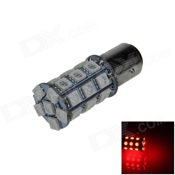 1157 / BAY15D 6W 300lm 27 x SMD 5050 Copia de seguridad de Red Car LED Light / luz de freno / luz de Señal - (12V)