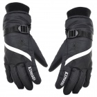 KINEED L1304 Motorcycle Winter's Warm Anti-Slip Rainproof Gloves for Men - Black