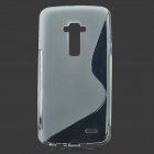 S Shaped Protective TPU Back Case for LG.G-FIEX - Translucent White