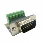 4 + 6 15-Pin Male VGA Adapter Welding Free