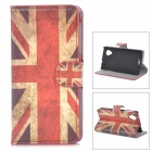 IKKI Retro Flag of UK Style PU Leather Flip-Open Case w/ Stand for LG Nexus 5 - White + Red