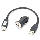USB 2.0 to Micro USB Charging Cable + Car Cigarette Power Charger for Samsung / HTC / Sony / Nokia