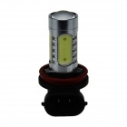 H11 7.5W 400lm Polarity Free 5-LED White Light Car Foglight / Headlamp / Tail Light - (12~24V)