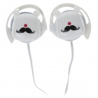 Sibyl G9 Stylish Stereo Ear Hook Headphones - White + Black + Red (3.5mm Plug / 112cm-Cable)