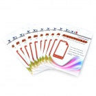 YI-YI  Anti-Fingerprint Matte ARM Screen Protector for Samsung Galaxy S3 i9300 - Transparent (10PCS)
