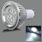 GU10 4W 400lm 6500K 4-LED White Light Dimming Spotlight - Silver (AC 110V)