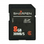 SHARPEN SDPRO-8G High Speed Flash Memory SD SDHC Card - Black (8GB / Class 6)