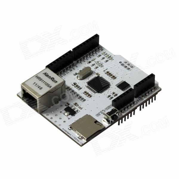 Ethernet W5100 R3 Shield Network Board -Supports MEGA, TF, RJ-45 (Works with Official Arduino Board) ipc board pia 662 sent to the cpu memory used disassemble