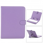 "Ultra-Thin Micro USB Keyboard PU Leather Case for 9.7"" Tablet PC - Purple + White"